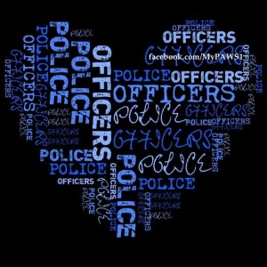 Police Blue Heart